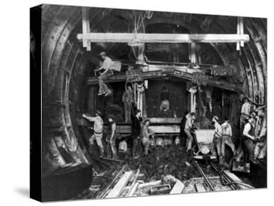 Workers Excavating Great Northern and City Tube Railway