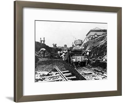 Workers Excavating Site of Northern Railway