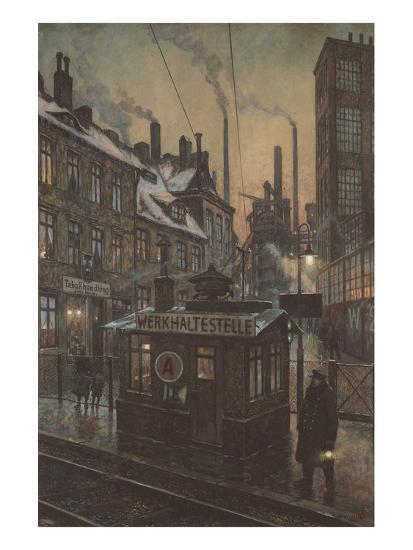 Workers Houses-Hans Baluschek-Art Print