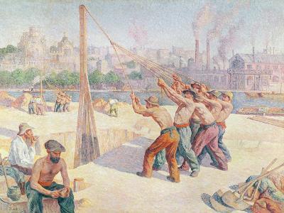 Workers on the Quai De La Seine at Billancourt, 1902-3-Maximilien Luce-Giclee Print