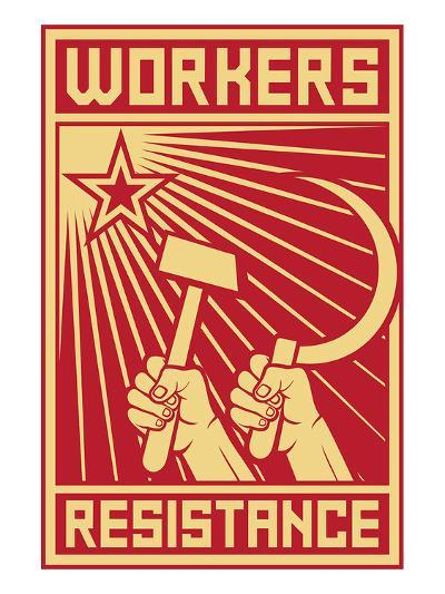 Workers Resistance Poster--Art Print