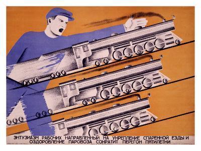 Workers Transportation-D. Bulanov-Giclee Print