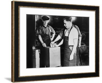 Workers Voting for Union Representation in River Rouge Ford, Dearborn, June 1941--Framed Photo