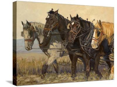 Workforce-Karen Bonnie-Stretched Canvas Print