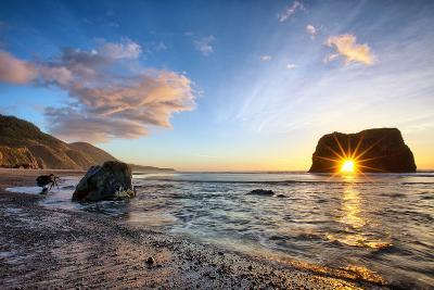 Workign the Coast, Sunset at Elephant Roack, Fort Bragg, Mendocino-Vincent James-Photographic Print