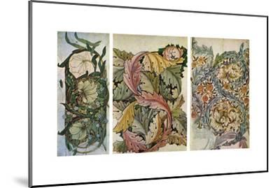 Working Drawings by William Morris (1834-189), 1934-William Morris-Mounted Giclee Print