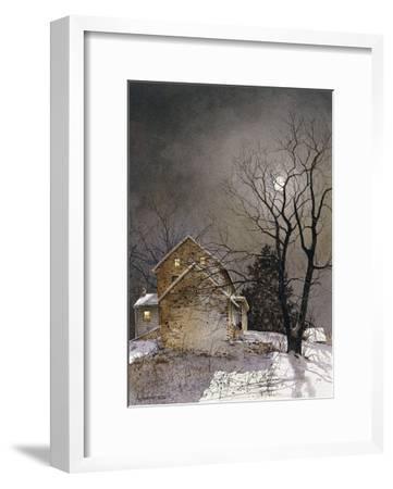 Working Late-Ray Hendershot-Framed Art Print
