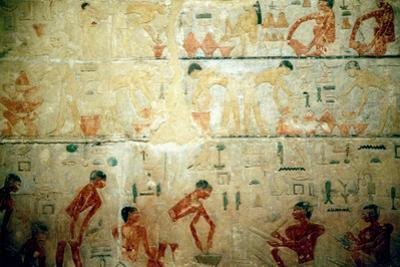 Working Life in Ancient Egypt, Wall Painting from an Artisan's Tomb at Saqqara