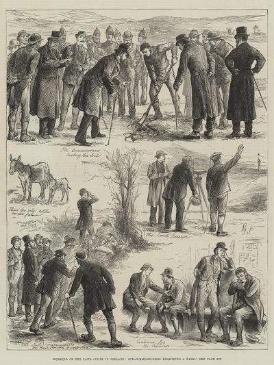 Working of the Land Court in Ireland, Sub-Commissioners Examining a Farm--Giclee Print