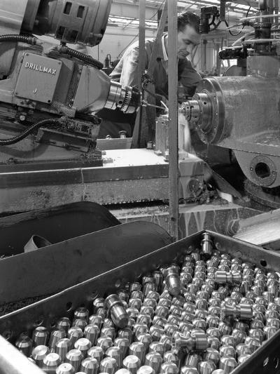 Working on a Drillmax Machine, Park Gate Iron and Steel Co, Rotherham, South Yorkshire, 1964-Michael Walters-Photographic Print
