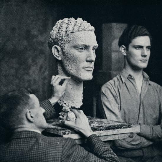 'Working on a Portrait of Mr. Duncan Guthrie', c1935-Unknown-Photographic Print