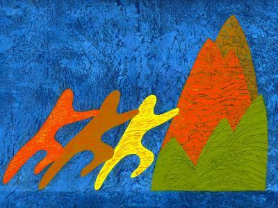 Working Together to Move Mountain-Sharon Kane-Photographic Print