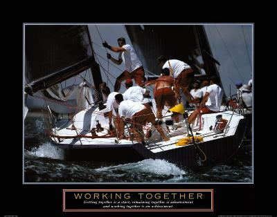 Working Together--Art Print