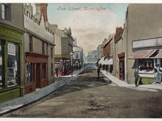 Workington, Cumbria: Pow Street--Photographic Print