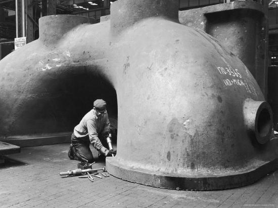 Workman at General Electric Plant-Alfred Eisenstaedt-Photographic Print