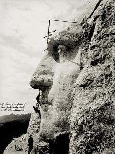 Workmen on Face of George Washington