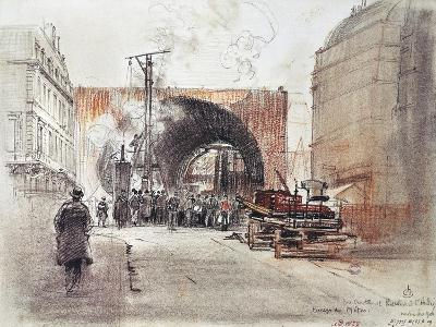 Works for Metro in Rue Danton and Boulevard Saint Andre in Paris, 1906, France, 20th Century--Giclee Print