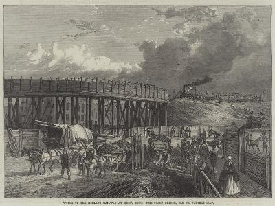 Works of the Midland Railway at King'S-Cross, Temporary Bridge, Old St Pancras-Road--Giclee Print