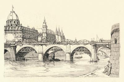 Works on the Old Pont Notre-Dame, 1913 (1915)-Herman Armour Webster-Giclee Print