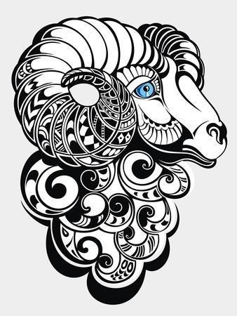 Sheep. Happy New Year 2015 Symbol