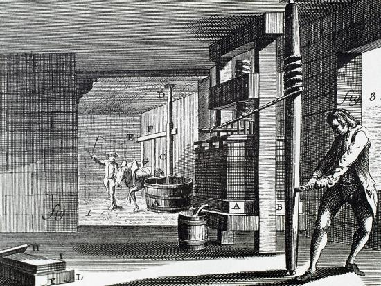 Workshop Dedicated to Handcrafting the Paperboard. 18th Century.--Giclee Print