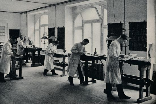Workshop of the Arts and Crafts technical school, Flensburg, Germany. c1908-Unknown-Photographic Print