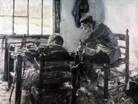 Workshop of the Shoe Maker, 1881-Max Liebermann-Giclee Print