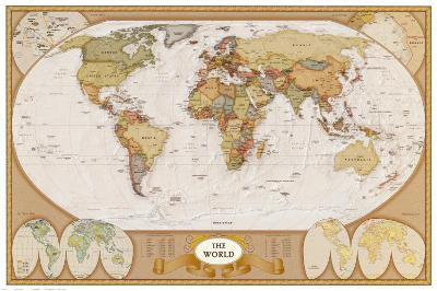World Antique Map--Art Print