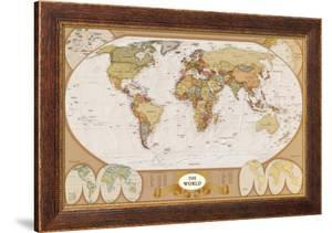 Maps framed posters artwork for sale posters and prints at art world antique map sciox Images