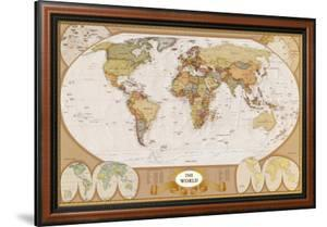 World maps framed posters artwork for sale posters and prints at framed art print 20699 world antique map gumiabroncs Choice Image