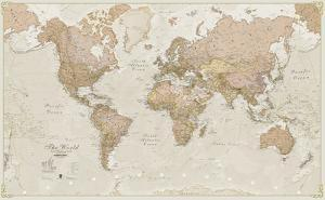 Beautiful world maps artwork for sale posters and prints the new world antique megamap 120 laminated wall map gumiabroncs Choice Image
