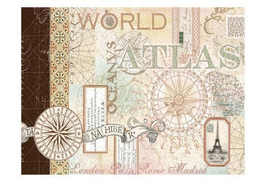 World Atlas 1-Ophelia & Co^-Art Print