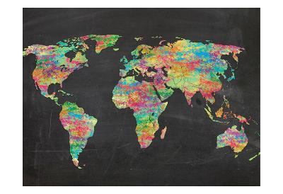 World Chalk Kids-Lauren Gibbons-Art Print