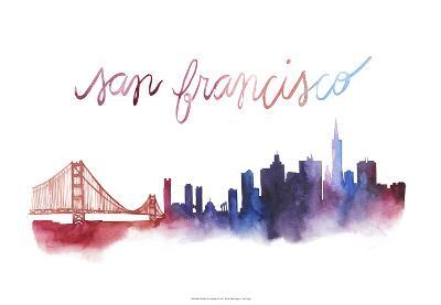 World Cities Skyline I-Grace Popp-Art Print