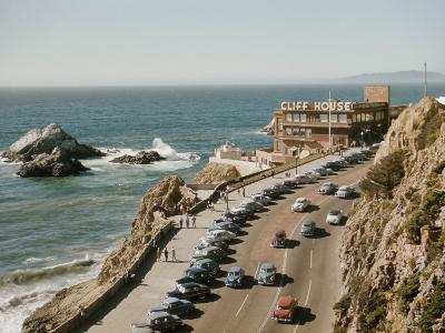 World Famous Cliff House Restaurant as Seen from Sutro Heights-Joseph Baylor Roberts-Photographic Print