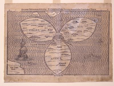 World in a Clover Leaf, 1581-Heinrich Bunting-Giclee Print
