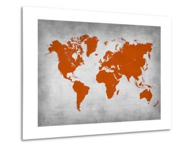 World Map 14-NaxArt-Metal Print