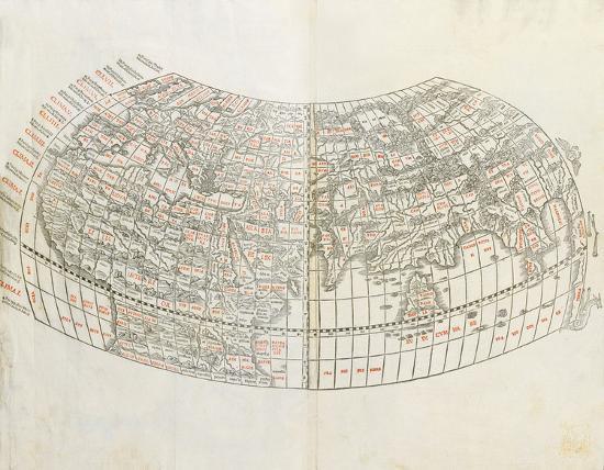 World Map 1511 Premium Giclee Print By Claudius Ptolemy Art Com