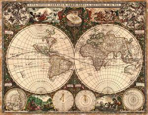 World Map, 1660