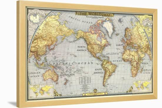 World Map 1943-National Geographic Maps-Framed Art Print
