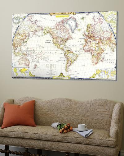 World Map 1951--Loft Art