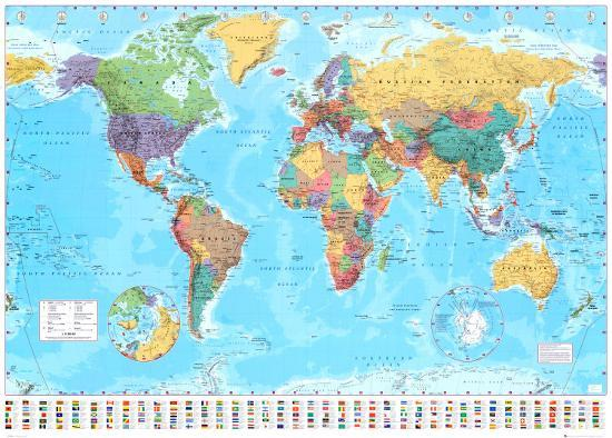 World Map 2015--Giant Poster