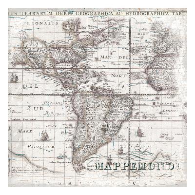 World Map 2-Ophelia & Co^-Art Print
