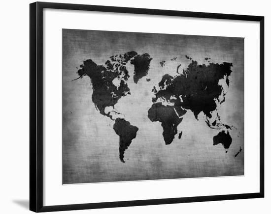 World  Map 8-NaxArt-Framed Art Print