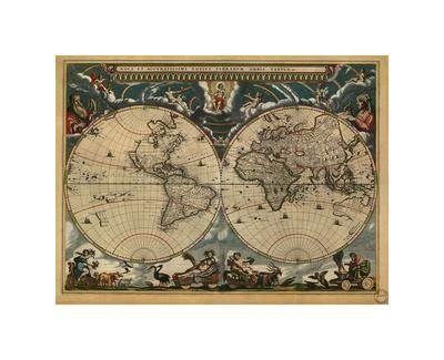 World Map, c.1664-Joan Blaeu-Giclee Print