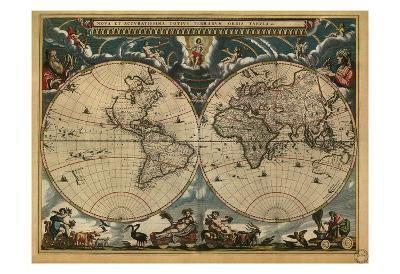 World Map, c.1664--Art Print