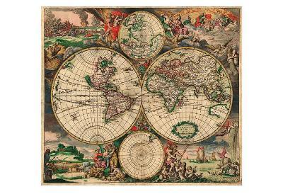 World Map, c.1689--Art Print
