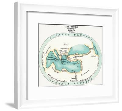 World Map, C1000 B.C--Framed Giclee Print