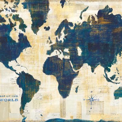 World Map Collage v2-Sue Schlabach-Art Print