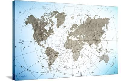 World Map Exploration--Stretched Canvas Print